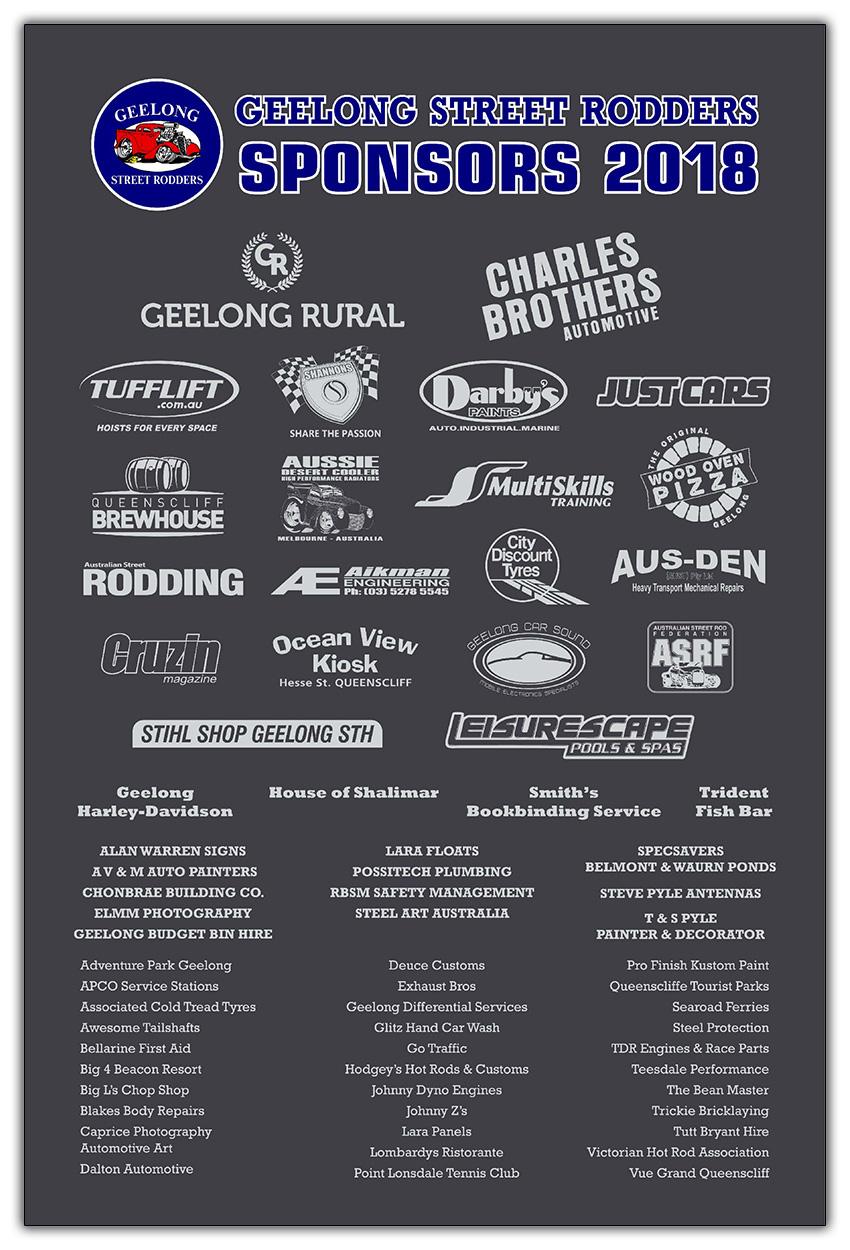 Geelong Street Rodders - Sponsors
